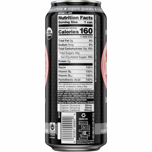 HiBall Black Cherry Organic Energy Drink Perspective: left