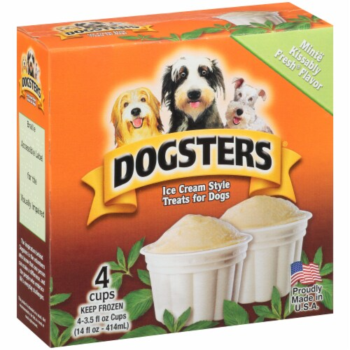 Dogsters Mint Flavored Ice Cream Style Treats for Dogs Perspective: left