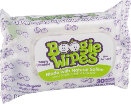 Boogie Wipes Simply Unscented Saline Wipes Perspective: left
