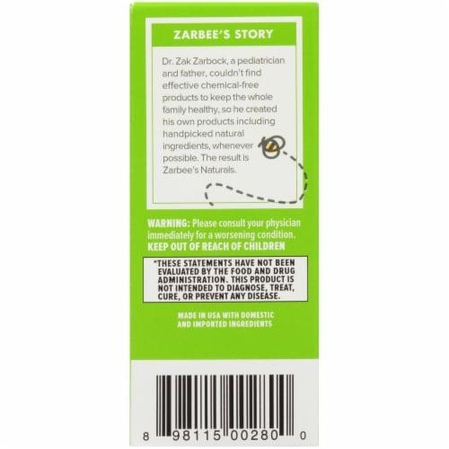 Zarbee's® Naturals Baby Cough + Mucus Grape Liquid Supplement Perspective: left