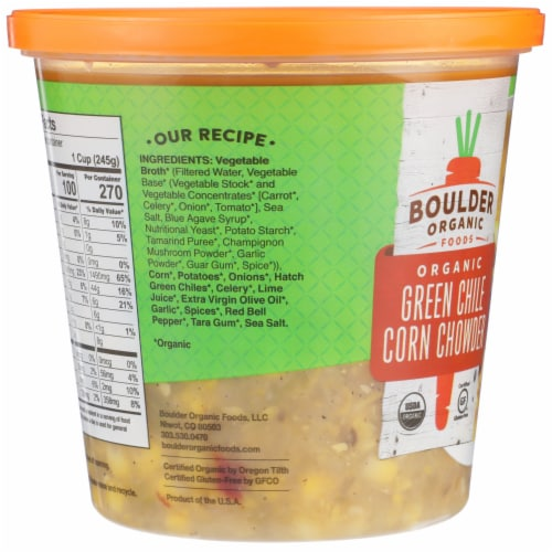 Boulder Organic Green Chile Corn Chowder Perspective: left