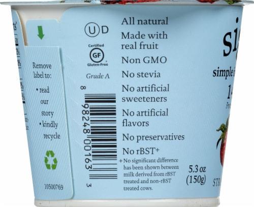 Siggi's 2% Strawberry Skyr Icelandic Style Low Fat Strained Yogurt Perspective: left