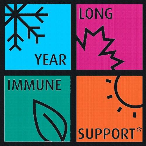 Qunol Immune Support Vegetarian Capsules Perspective: left