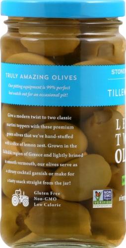 Tillen Farms Lemon Twist Olives in Vermouth Perspective: left
