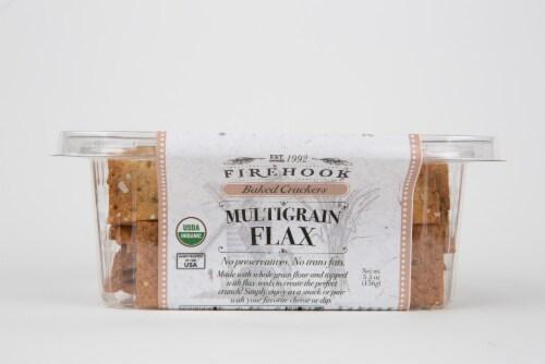 Firehook Multigrain Flax Mediterranean Baked Crackers Perspective: left