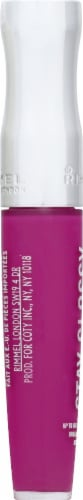 Rimmel Stay Glossy 155 Purple Parlour Lip Gloss Perspective: left