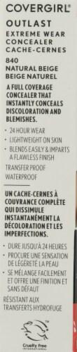 CoverGirl Outlast 840 Natural Beige Extreme Wear Liquid Concealer Perspective: left