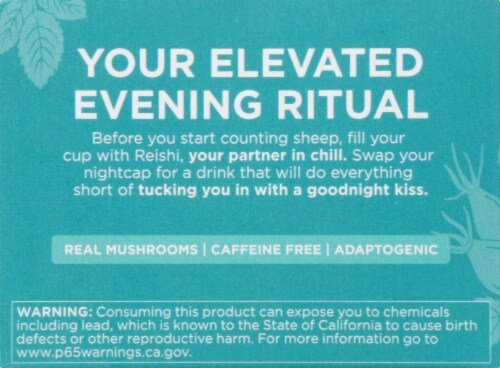 Four Sigmatic Chill Mushroom Elixir Mix with Reishi Perspective: left