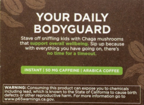Four Sigmatic Cordyceps & Chaga Mushroom Coffee Mix Packets Perspective: left