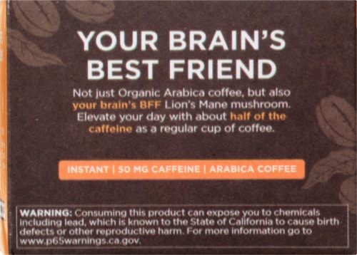 Four Sigmatic Lion's Mane & Chaga Mushroom Coffee Mix Packets Perspective: left