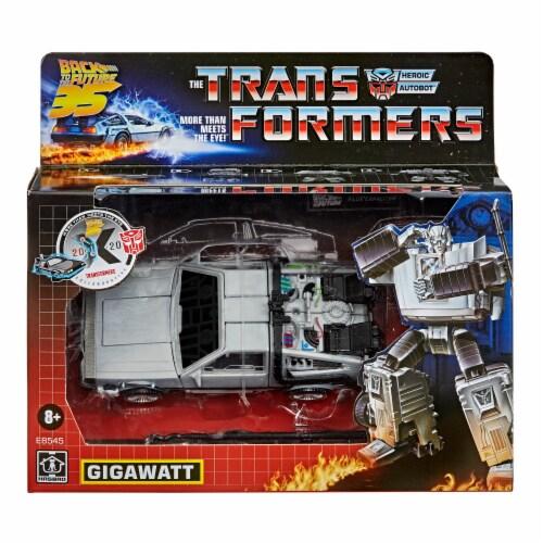 Hasbro Transformers Collaborative Back to the Future Gigawatt Figure Perspective: left