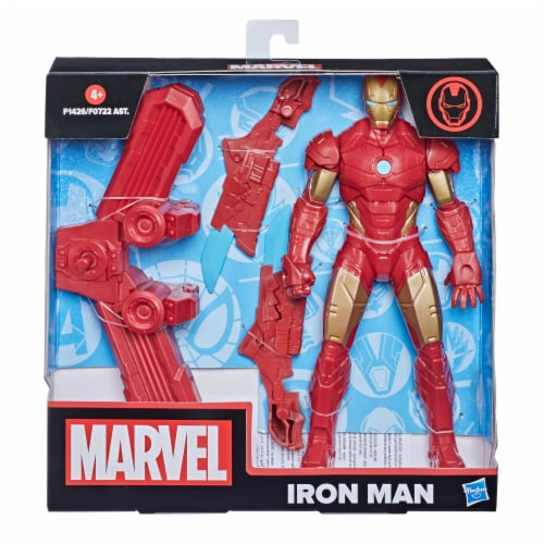 Hasbro Marvel Iron Man Action Figure and Gear Perspective: left