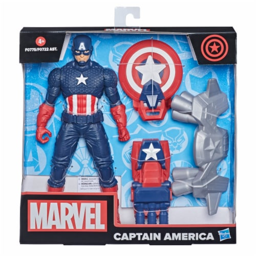 Hasbro Marvel Captain America Action Figure and Gear Perspective: left