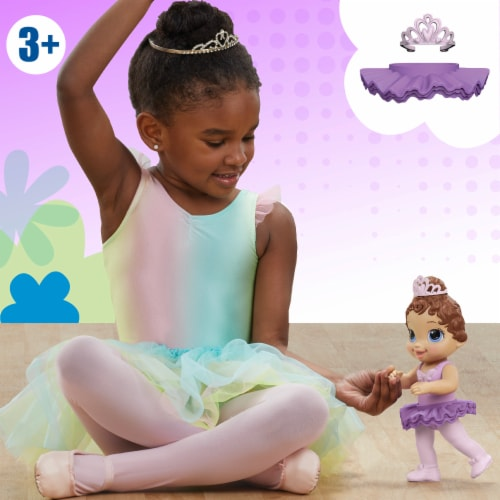 Hasbro Baby Alive Sweet Ballerina Brown Hair Baby Doll - Purple Perspective: left