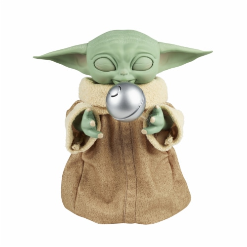 Hasbro Star Wars Galactic Snackin' Grogu Figure Perspective: left