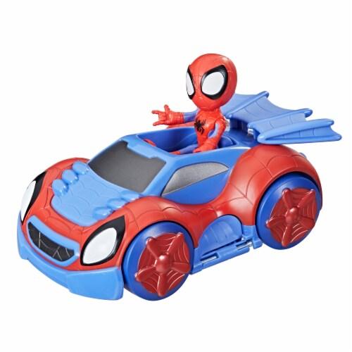 Hasbro Disney Junior Marvel Spidey and His Amazing Friends Web-Crawler And Spidey Perspective: left
