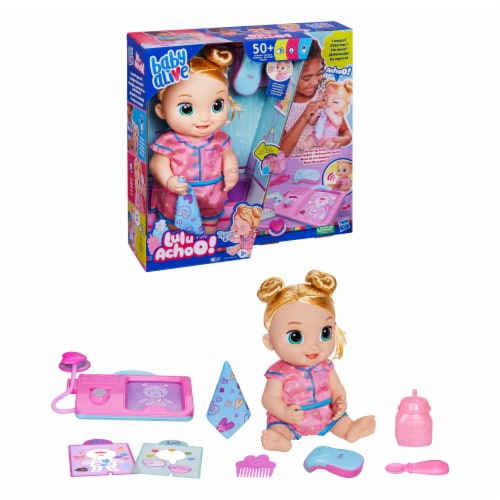Hasbro Baby Alive Lulu Achoo Blonde Doll Perspective: left