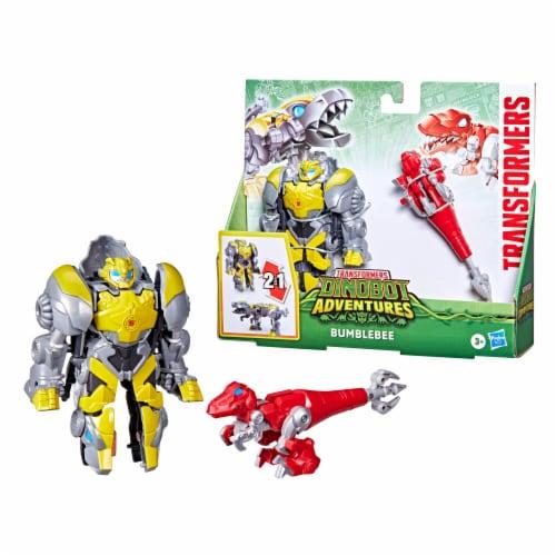 Hasbro Transformers Dinobot Adventures Bumblebee Figures Perspective: left