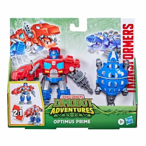Hasbro Transformers Dinobot Adventures Optimus Prime Figures Perspective: left