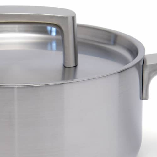 BergHOFF Stainless Steel Covered Sauce Pan Perspective: left