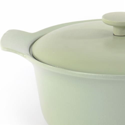 BergHOFF Ron Cast Iron Covered Stockpot - Green Perspective: left