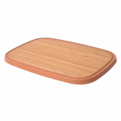 BergHOFF Leo Anti-Slip Bamboo Cutting Board - Pink Perspective: left