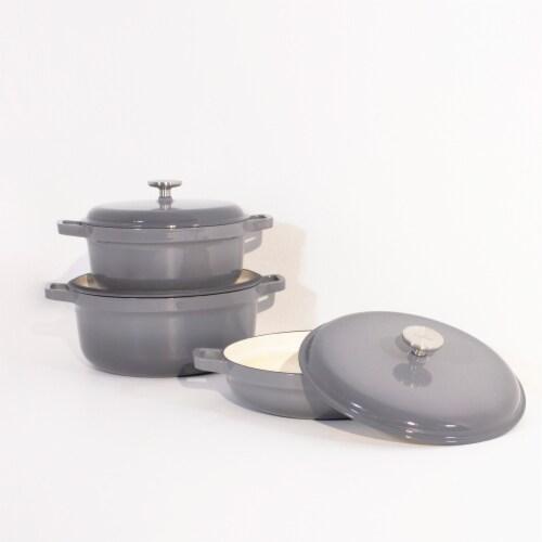 BergHOFF Gem Cast Iron Cookware Set - Grey Perspective: left