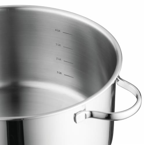 BergHOFF Stainless Steel Covered Casserole Pan Perspective: left