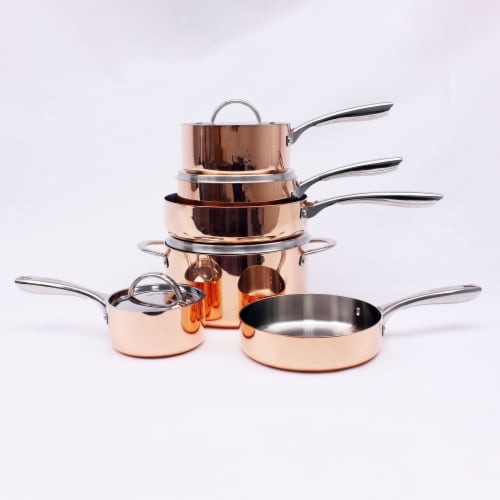 BergHOFF Tri-Ply Cookware Set - Polished Copper Perspective: left