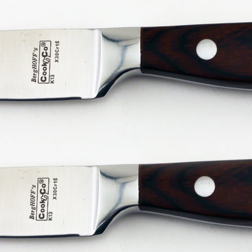 BergHOFF Stainless Steel Steak Knife Set Perspective: left