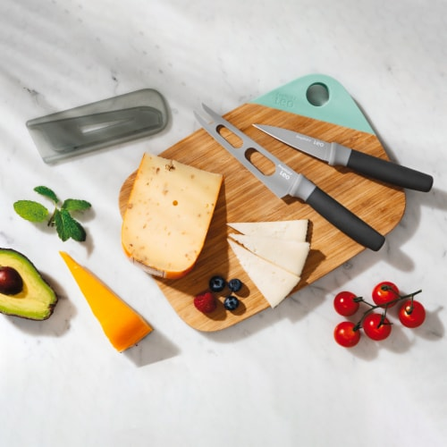 BergHOFF Leo Knife and Cutting Board Set - Gray & Green Perspective: left