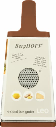 BergHOFF 4-Sided Box Grater - Pink/Gray Perspective: left