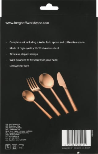 BergHOFF Flatware Set - Gold Plated Perspective: left