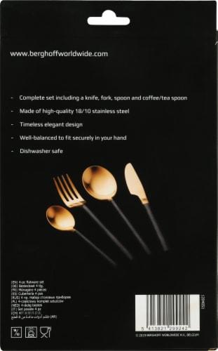 BergHOFF Gem Plated Flatware Set - Gold / Black Perspective: left