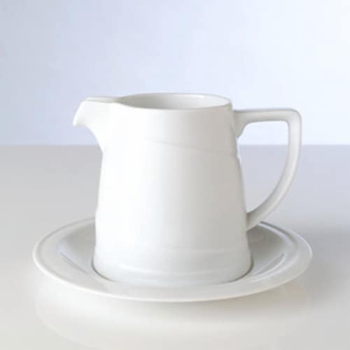 BergHOFF Porcelain Sauceboat & Saucer - White Perspective: left