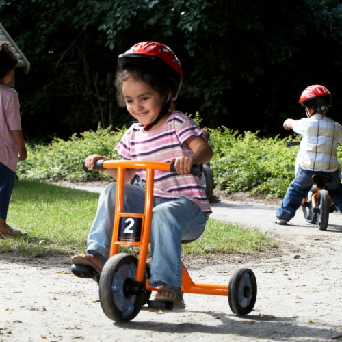 Winther Small Circleline Tricycle - Orange Perspective: left
