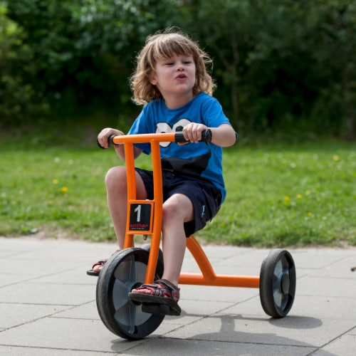 Winther Medium Circleline Tricycle - Orange Perspective: left