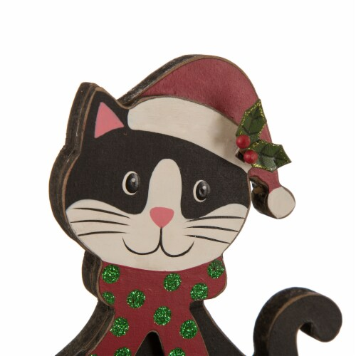 Glitzhome Wooden/Metal Cat & Dog Stocking Holder with class design Perspective: left
