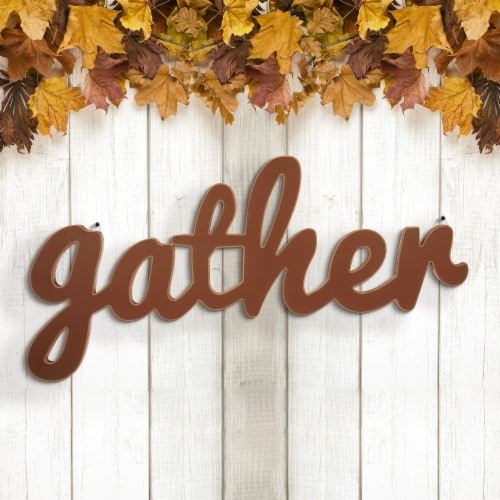 Glitzhome Wooden Gather Wall Decoration Perspective: left