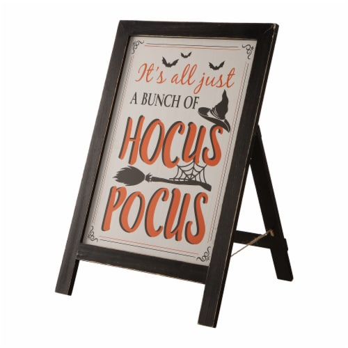 Glitzhome Hocus Pocus Wooden Standing Easel Perspective: left