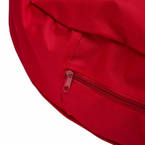 Glitzhome Canvas Christmas Wreath Storage Bag with Zipper - Red Perspective: left