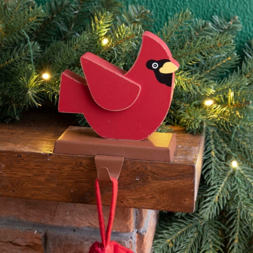 Glitzhome Cardinal Stocking Holder Perspective: left
