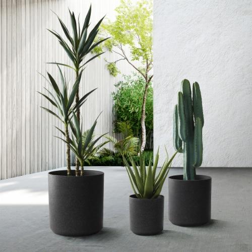 Glitzhome Fauz Marble Plastic Pot Planter Perspective: left
