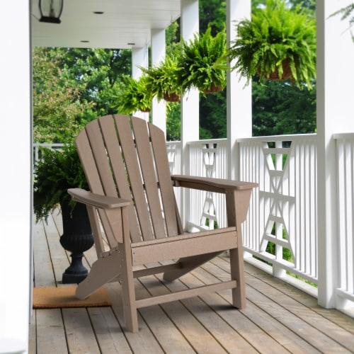 Glitzhome Adirondack Chair - Tan Perspective: left