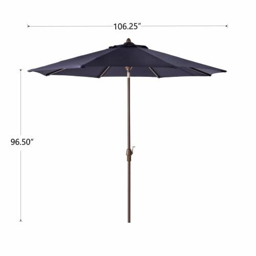 Glitzhome Aluminium Self Tilt Patio Umbrella - Navy Blue Perspective: left