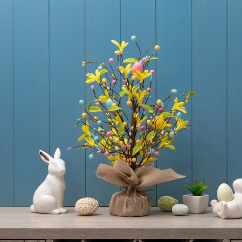 Glitzhome Easter Egg Table Tree Decoration Perspective: left