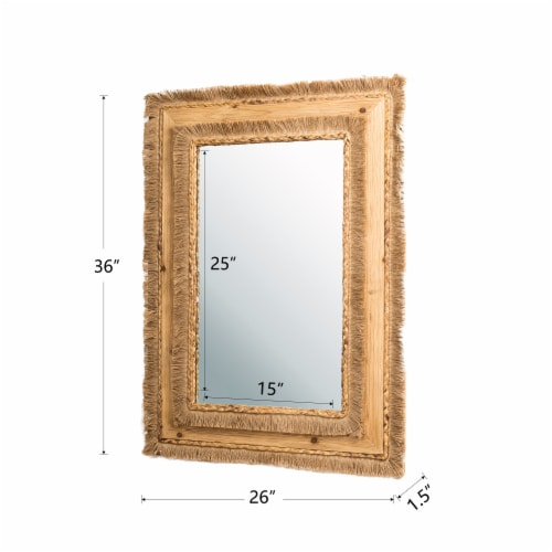 Glitzhome Oversized Bohemian Style Decorative Wall Mirror Perspective: left