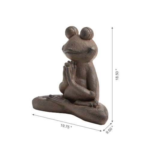 Glitzhome Frog with Yoga Pose Decorative Statue Perspective: left