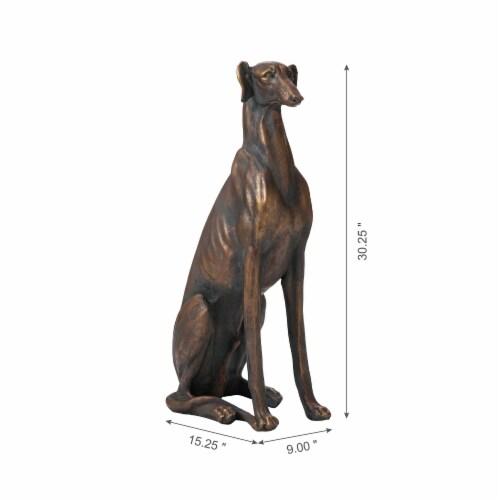 Glitzhome Sitting Greyhound Dog Decorative Statue Perspective: left