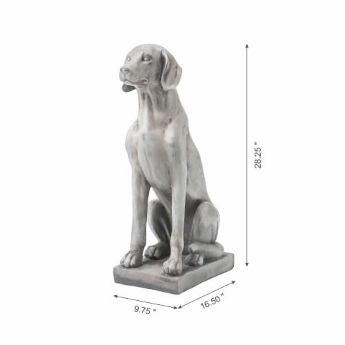 Glitzhome Sitting Labrador Retriever Dog Statue - Beige Perspective: left